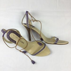 Burberry Made in Italy Lilac Stilettos W Tassels